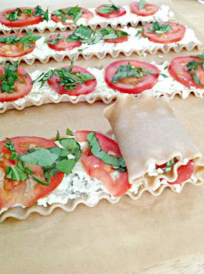 Everyday is a Holiday: Plum Tomato & Basil Lasagna Roll Ups