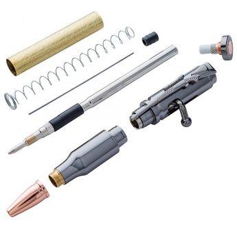 30 Caliber Bolt-Action Pencil Hardware Kit, Gun Metal