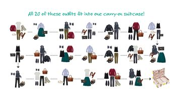 Packing Lists: 8 Tips to Pack 20 Outfits in One Carry-on