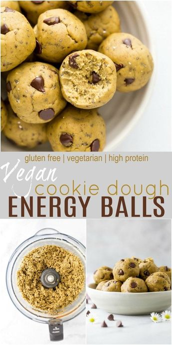 No Bake Vegan Cookie Dough Energy Balls