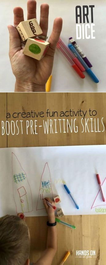 Boost Pre-Writing Skills with an Art Dice Creative Activity