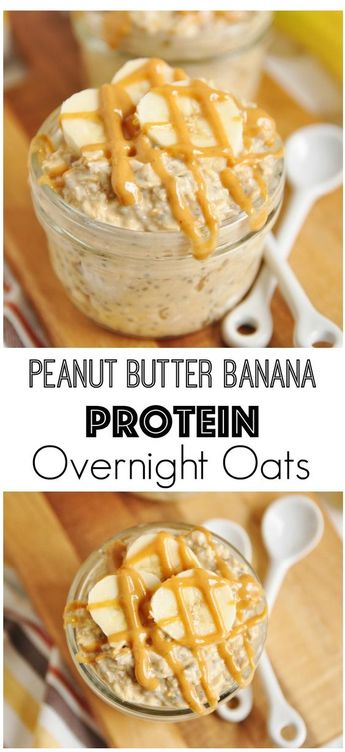 this Clean Eating Peanut Butter Banana Protein Overnight Oats is so yumm!!  Just CLICK THE LINK  to SEE THE COMPLETE RECIPES  and step by step instruction
