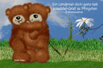 Animierte Grusskarte Zum Valentinstag Mit Djabbi Teddy
