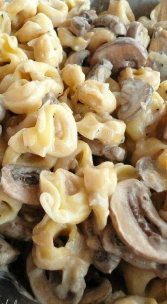 tortellini with mushroom cream sauce