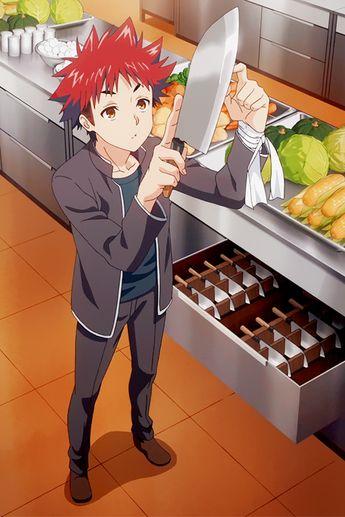 Food War || Yukihira Souma. Surely, everyone wants to have a boyfriend like this XD