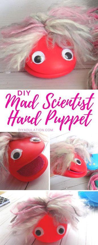 DIY Mad Scientist Hand Puppet