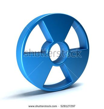Radioactive Symbol. 3D Rendering Illustration