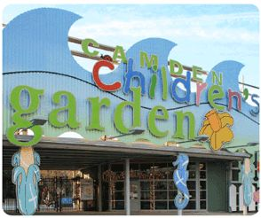 The Camden Children's Garden   is designed for children and families. It is a special place to explore and discover the natural world. The four-acre garden provides horticultural experiences for creative and imaginative play.