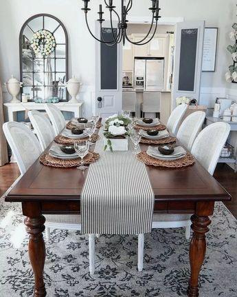 42+ DIY Farmhouse Table: Turn Your Table Into A Farmhouse Table #farmhousedecor #farmhousepaint #modernfarmhouse ~ Home Design Ideas