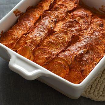 Sweet Potato Casserole #thanksgiving #cozycasserole #lowcal