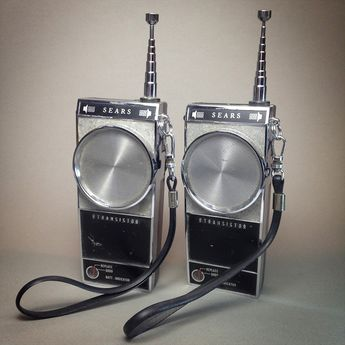 Vintage Sears 9-Transistor Walkie Talkie Set