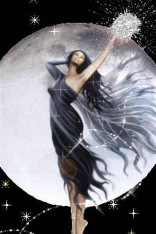 Reaching Moon Goddess
