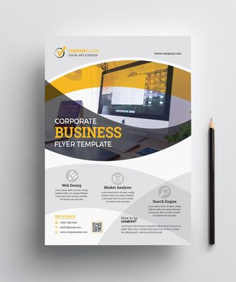 Print Ready Computer Flyer Design - Graphic Templates