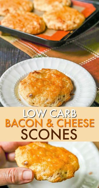 Low Carb Bacon Cheddar Scones - easy grab and go gluten free breakfast