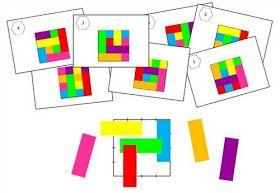 Remue Méninge: Les rectangles : Jeu de repérage spatial cycle 2 et 3