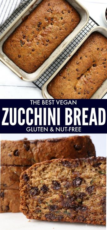Chocolate Chip Zucchini Bread – it's the recipe you've been waiting for! This bread is vegan, gluten-free & nut-free PLUS down right deliciously addicting!|Recipe www.allergylicious.com|#vegan #glutenfree #zucchinibread #allergyfriendly