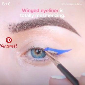Perfectly winged eyeliner is so satisfying