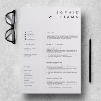 Executive Assistant Resume | Resume Template | Sophie Williams