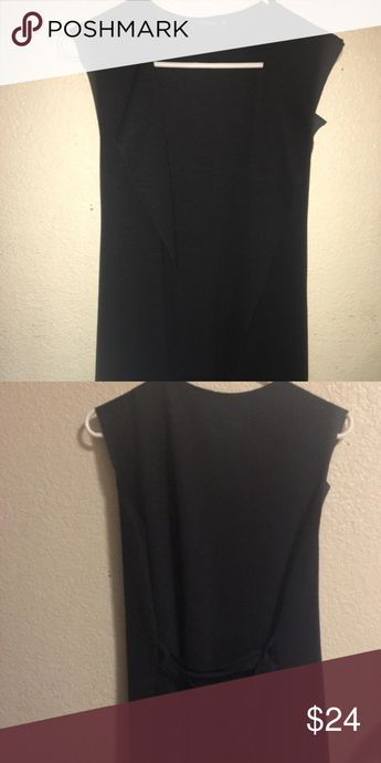 Black knee length vest Black knee length vest. Worn only once. In great condition. Boohoo Other