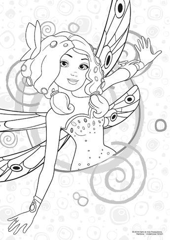 Mia Yuko Mo And Onchao Coloring Page