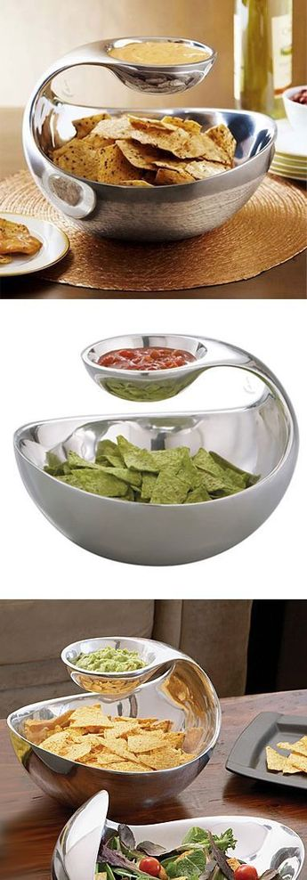 Scoop // a chip bowl with floating dip server! #product_design #kitchen: Scoop // a chip bowl with floating dip server! #product_design #kitchen