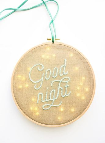 DIY veilleuse Good Night