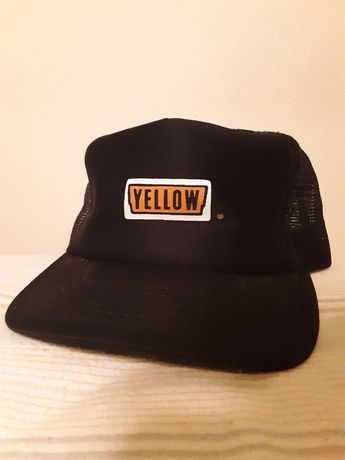 0cc4b133081 Vintage Yellow Trucking Company Men s Snapback Trucker Mesh Hat Cap  fashion   clothing  shoes