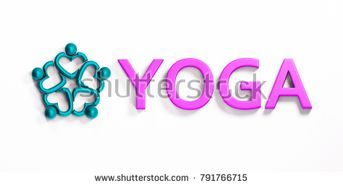 Yoga Colorful Fitness Concept. 3D Render Illustration
