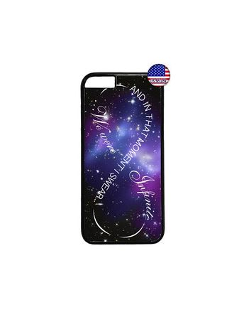 Infinity Love Galaxy Space Nebula Quote Hard Rubber TPU Slim Case Cover for iPhone 8 7 6 6s Plus X X