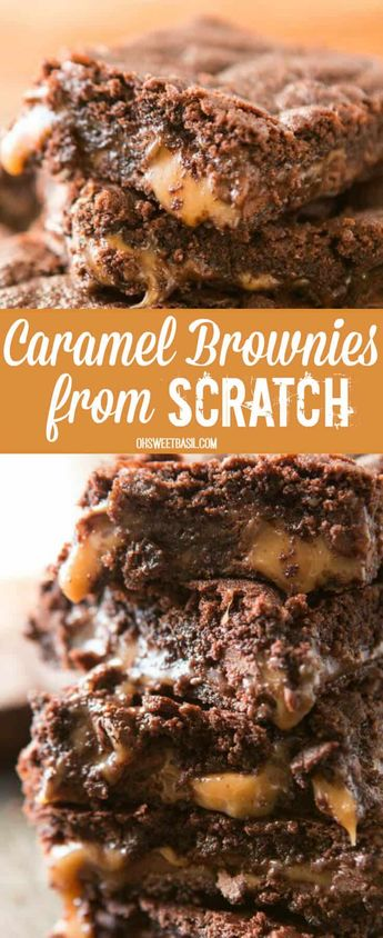 Caramel Brownies From Scratch