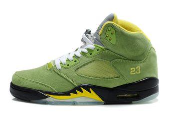 quality design 2ad9c ae1ee Air Jordan 5 Retro Suede Green Yellow Black