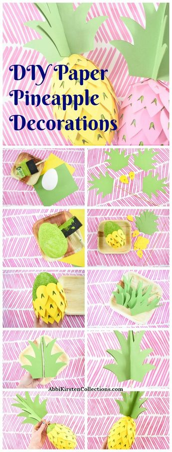 Pineapple Party Decorations - How to: DIY Paper Pineapple Template
