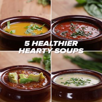 5 Healthier Hearty Soups // #soups #winter #healthy #Tasty #cooking