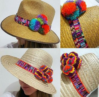 5477caf107862 SOMBRERO WAYUU DECORADO ❤beautiful hat decorated with weave