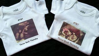 0a9da11f8 Custom Throwback Thursday Onesie- Personalized Baby Onesie- #TBT Ultrasound  Onesie- Baby Shower