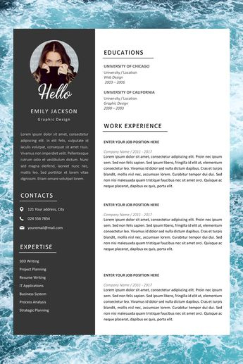 Professional Resume Template | Professional CV Template for MS Word | Modern Resume Design | Resume with Photo | Resume Instant Download