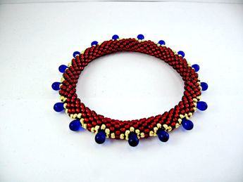3edf89ff8fdc Tutorial Bead Crochet Bracelet Bangle. Jewels of Jaipur Instant Pattern  Download with Invisible Join