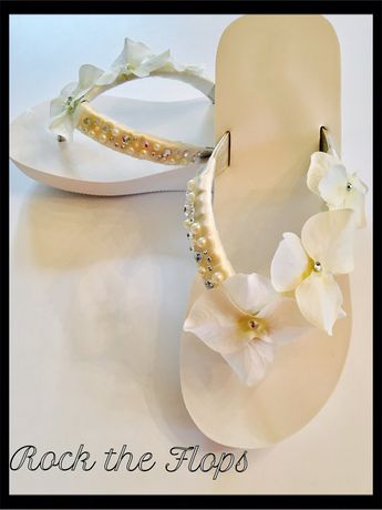 5eab3456a73b18 WEDDING Flip Flops!Bridal Flip Flops Wedges.Bridal Shoes.Beach Wedding  Sandals