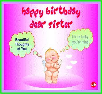Free Happy Birthday Sister graphics