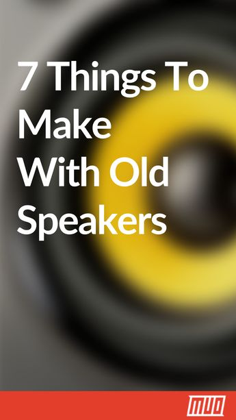 7 Creative Projects to Repurpose or Recycle Old Speakers #Project #Speakers #Recycle #Reuse
