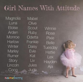 82 Attitude Names for Girls