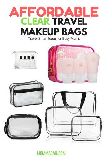 Clear Vinyl Cosmetic Travel Bag