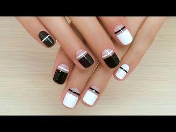 Дизайн ногтей гель-лак shellac - Роспись ногтей (видео уроки дизайна ногтей) - YouTube