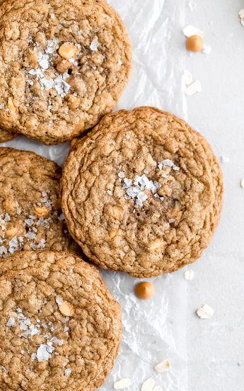 Salted Brown Butter Butterscotch Oatmeal Cookies