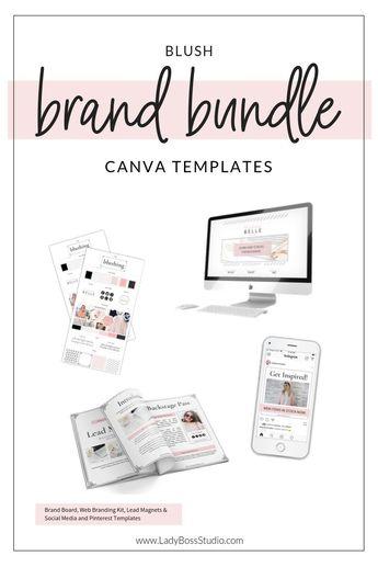 Blush Brand Templates Bundle for Canva | Lady Boss Studio