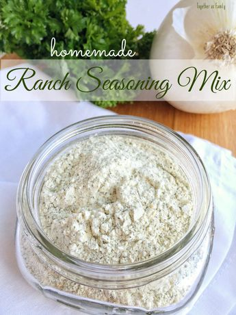 HOMEMADE RANCH SEASONING MIX | www.togetherasfamily.com
