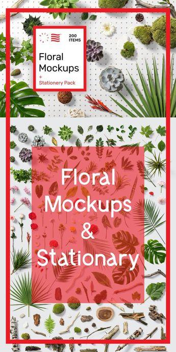 Floral Mockups + Stationery Pack
