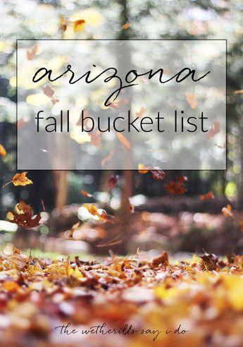 Arizona Fall Bucket List