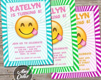 Emoji Birthday Party Invitations Diy Smiley Faces Pri