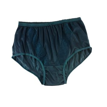 b9d516a087 KJ03 Deep Green New Panties Granny Lace Briefs Nylon Underwear Men Women